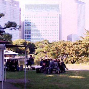 公園のイス